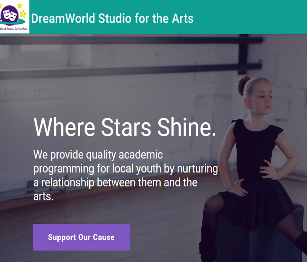 DreamWorld Studios for the Arts Website